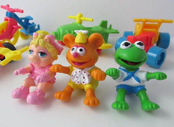 Muppet Babies McDonalds Fast Food Happy Meal Toys Lot 1990