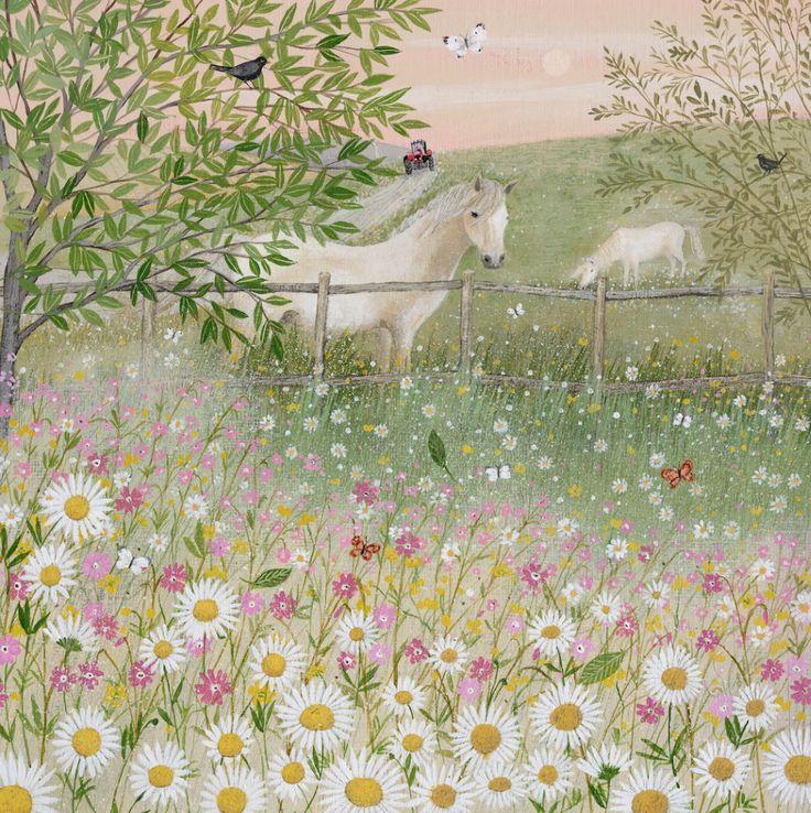 """Lucy Grossmith.""""Field Edge With Wild Flowers"""""""