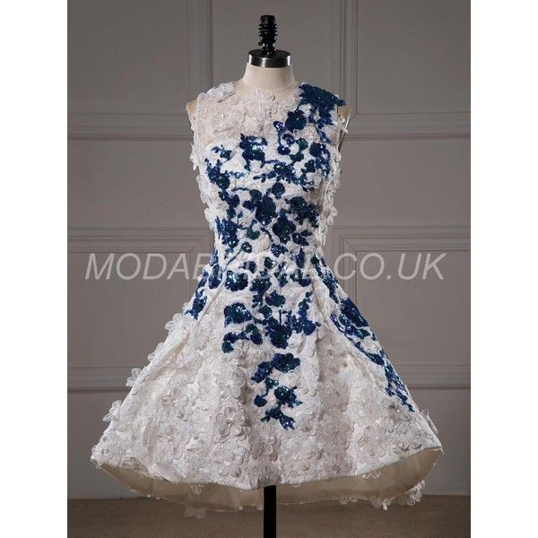 153.19 modabridal.co.uk SUPPLIES Fashionable Birmingham Charming... (2,925 INR) ❤ liked on Polyvore featuring dresses, short evening dresses, prom evening dresses, holiday dresses, flower prom dress and mini dress