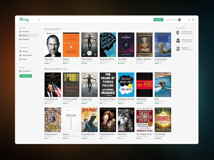 Library UI by James Fletcher