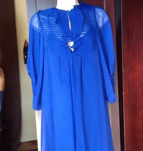 Nanette Lepore Bright Blue Dress Woman's Size Small