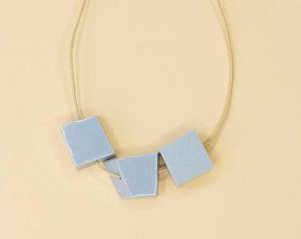 WIT porselein ketting / / porselein sieraden / / door PhiloKstudio