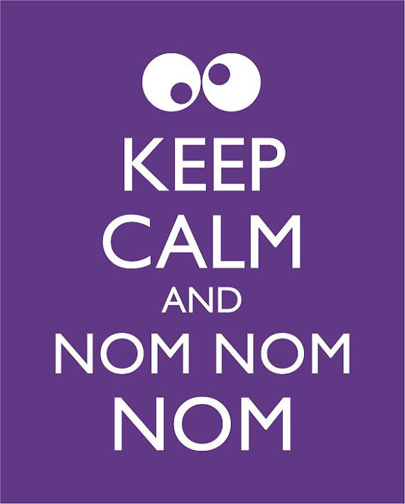 Cookie Monster  Keep Calm and Carry On  Poster by happylandings, $14.00
