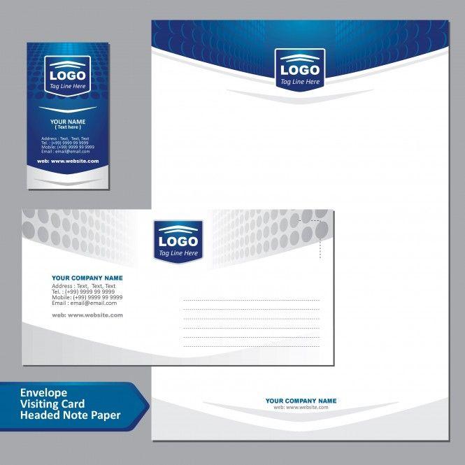 Letterhead Envelope Business Card Vector Design Package