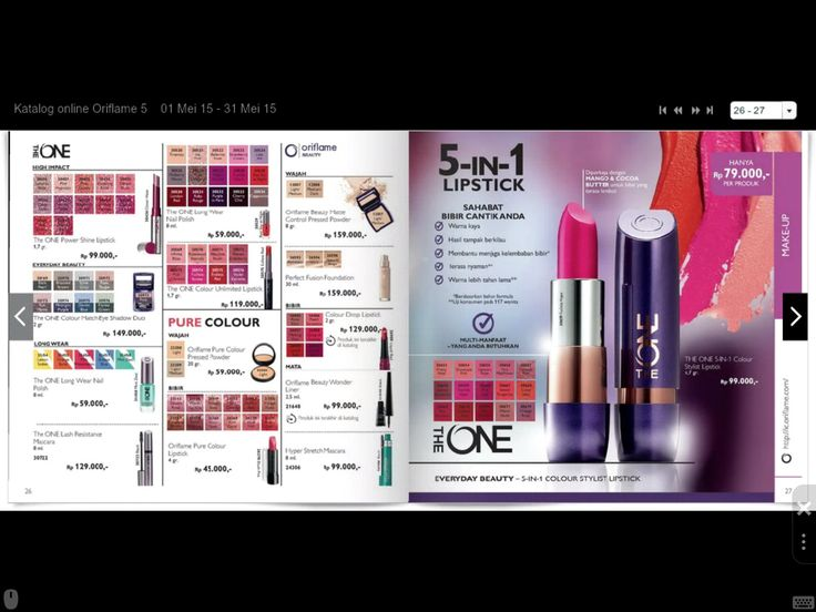 The One, Pure Colour, Oriflame Beauty