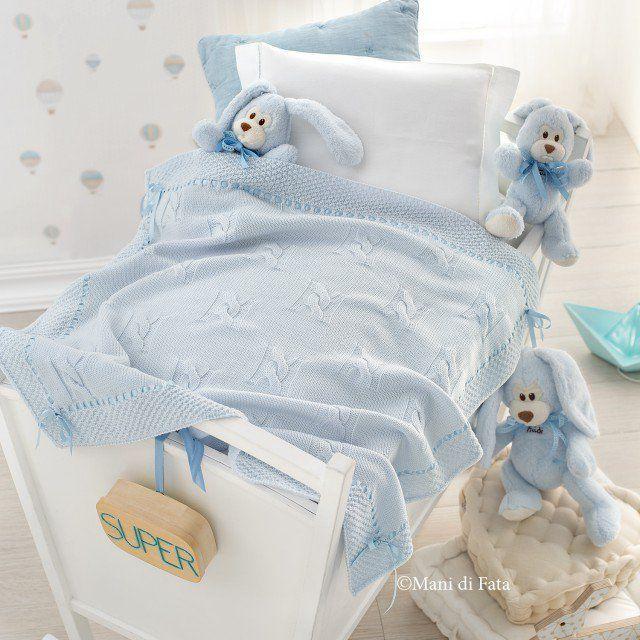 Wiegenabdeckung Kinder Bett Babydecke Hakeln Baby Kinderzimmer