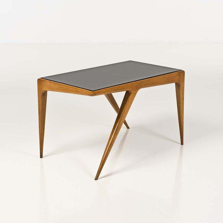 Carlo di Carli; Wood and Glass Table, 1950s.