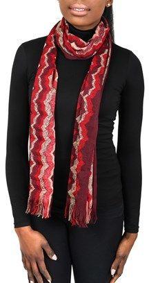 Missoni Sc31vmd5927 0001 Red/tan Wool Blend Womens Scarf.