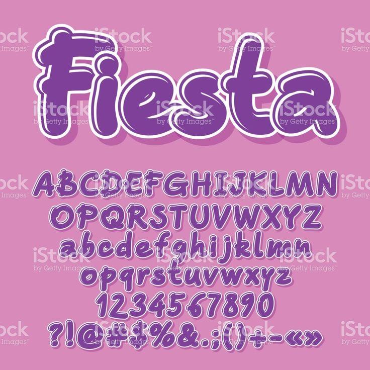 Vetoriais violeta letras, números, símbolos vetor e ilustração royalty-free royalty-free