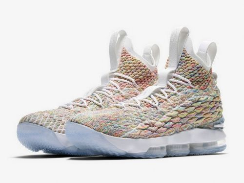 d2b27769994ae Cheap Priced Nike LeBron 15 Fruity Pebbles Release Date March 30 2018 Price  White Multi Basketball Shoes Nike LeBron 15 On Line