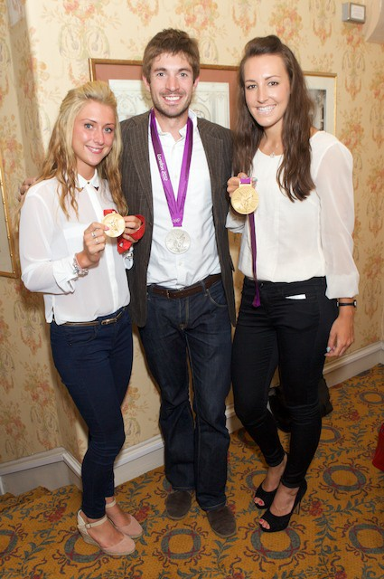Laura Trott, Zac Purchase and Dani King - Team GB athletes