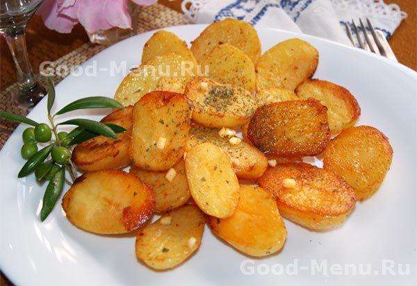 Вкусный запеченный картофель в духовке, подробный рецепт с фото