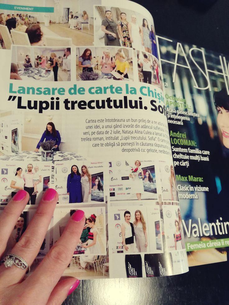 Lansarea cărții Lupii trecutului. Sofia. Lansare Chișinău - revista Fashion Vip