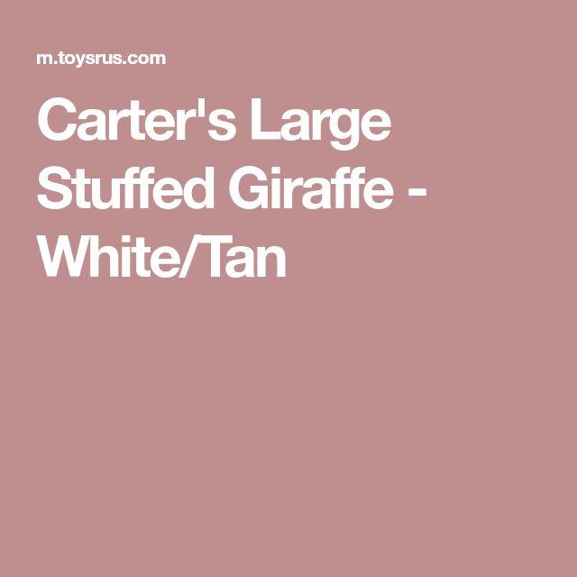 Carter's Large Stuffed Giraffe - White/Tan