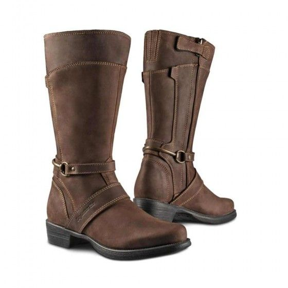 Stylmartin Megan Womens Motorcycle Boots - Dark Brown | Stylmartin Boots | FREE UK delivery - The Cafe Racer