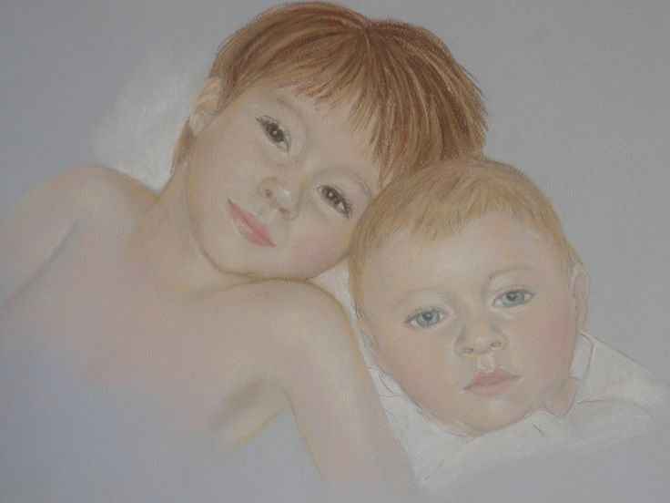 pastel painting i did of my babies