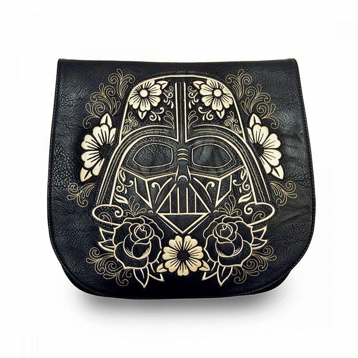 Star Wars Darth Vader Gold Sugar Skull Crossbody Bag by Loungefly