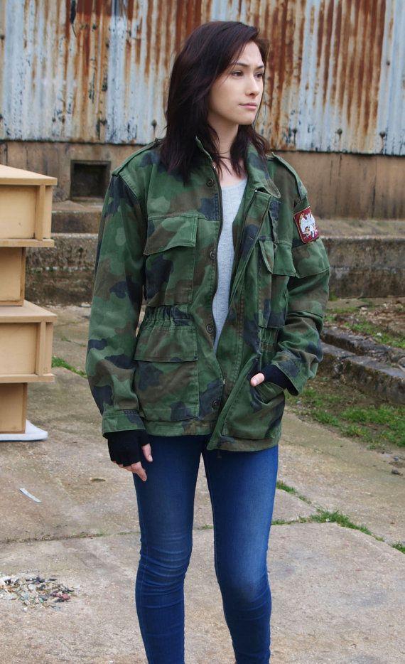 Authentic Serbian Yugoslavian army field jacket coat military camouflage camo