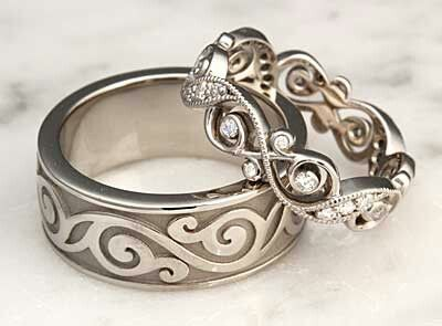 The 22 best images about Wedding ring sets for him and her on