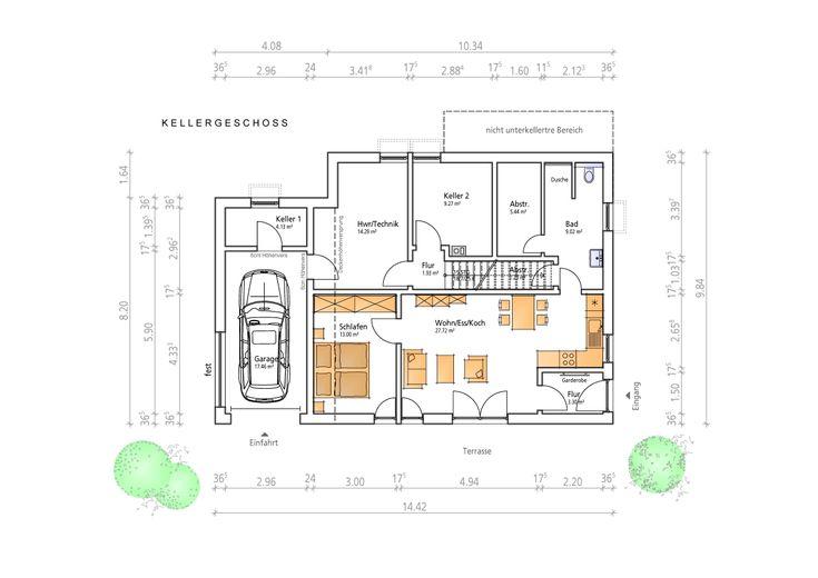 hanghaus wohnflaeche 147 m2 grundrisse haus haus. Black Bedroom Furniture Sets. Home Design Ideas