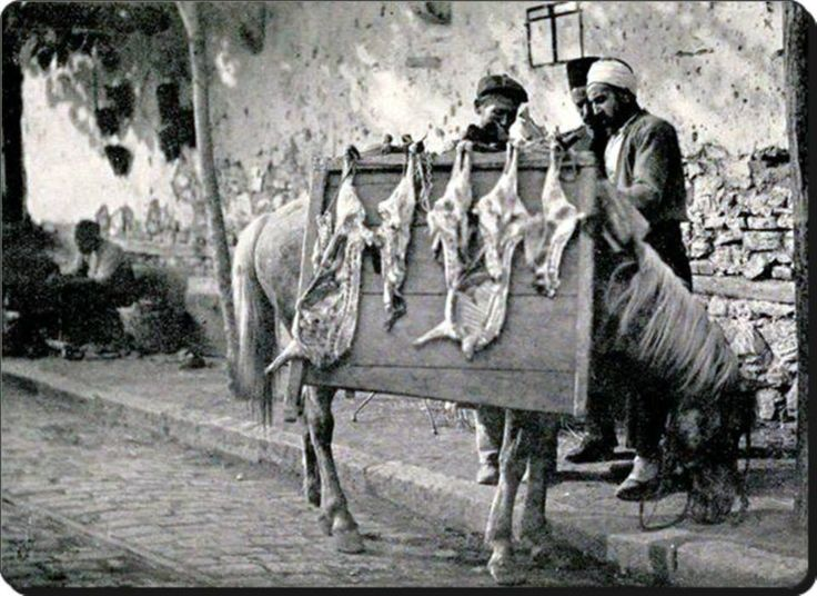 İstanbul'da seyyar kasap - 1906