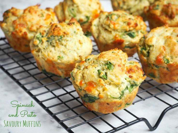 Spinach and Pesto Savoury Muffins