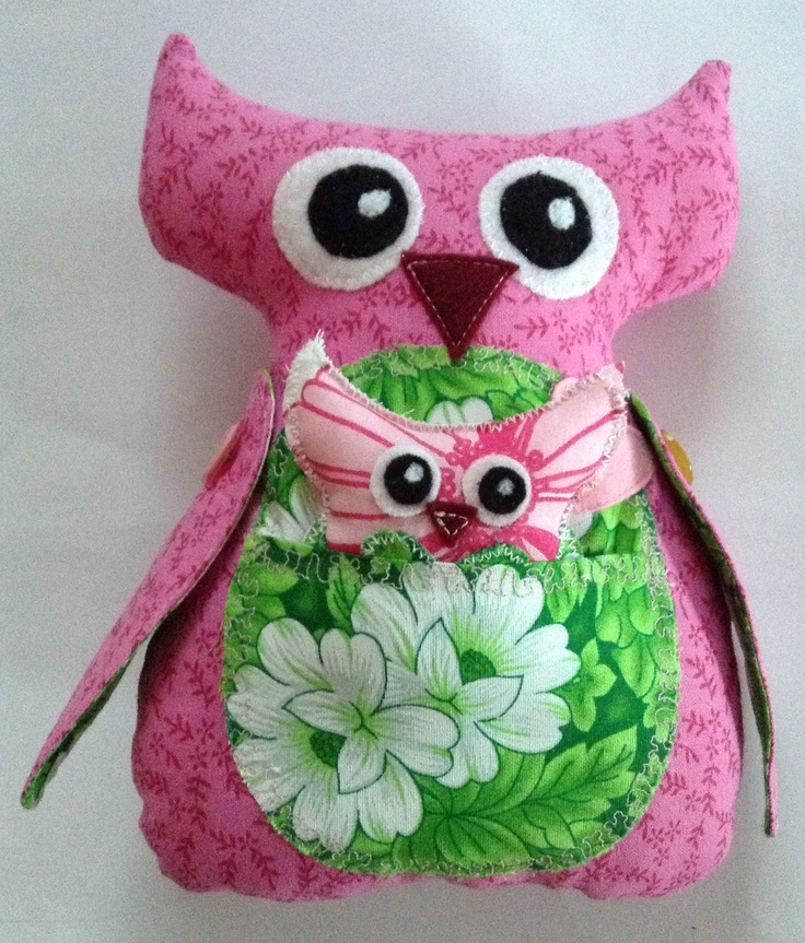Pink and green Owlsely and her Owlet are sure to make you smile and give a little one hours of joy!