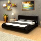 PU Leather Bed Queen - Black