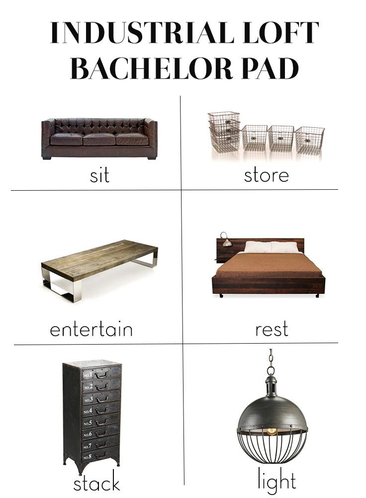 Industrial Bachelor Loft: Get the Look | Kathy Kuo Home