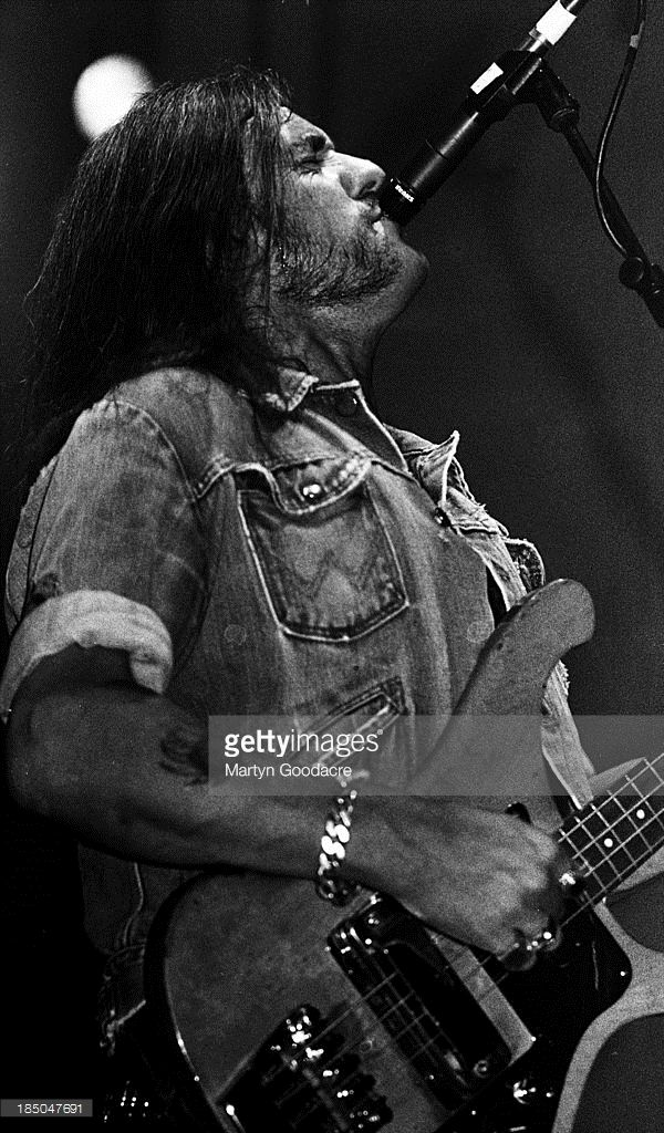 Lemmy Kilmister of Motorhead performs on stage in Portsmouth, United Kingdom, 1991.
