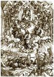 7. Альбрехт Дюрер. Апокалипсис. Поклонение Богу и Агнцу.