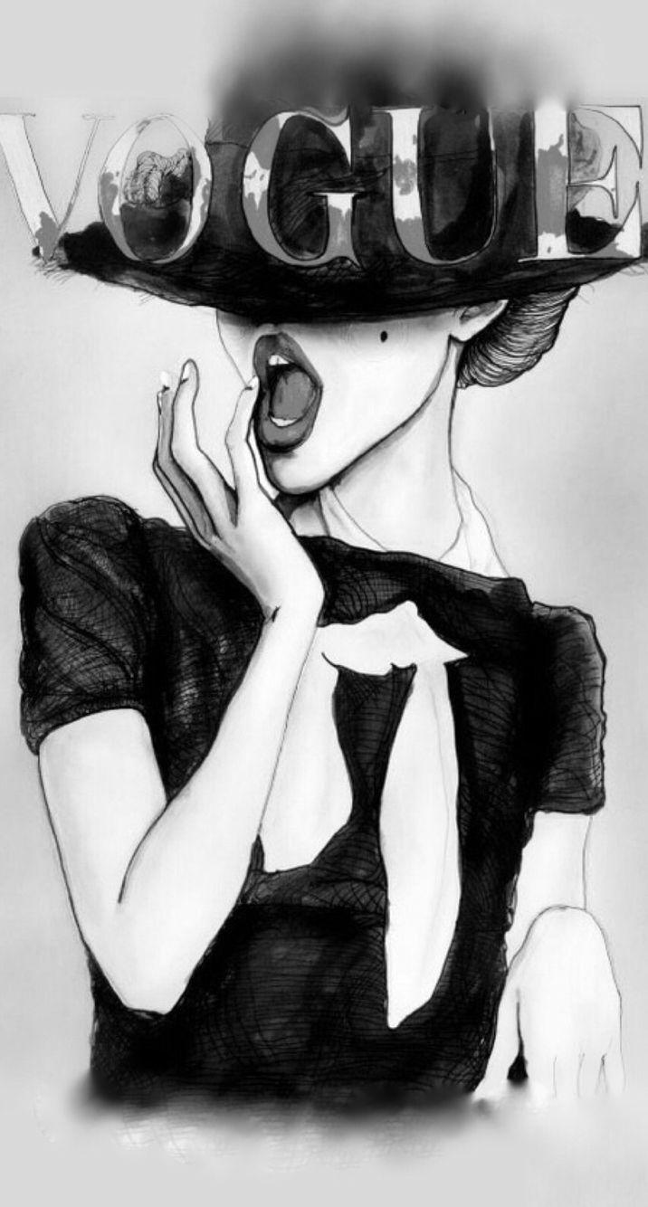 Vogue illustration iPhone wallpaper