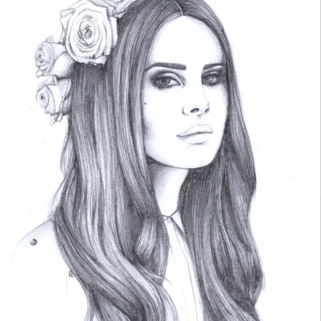 Lana Del Rey Drawing | Art | Pinterest