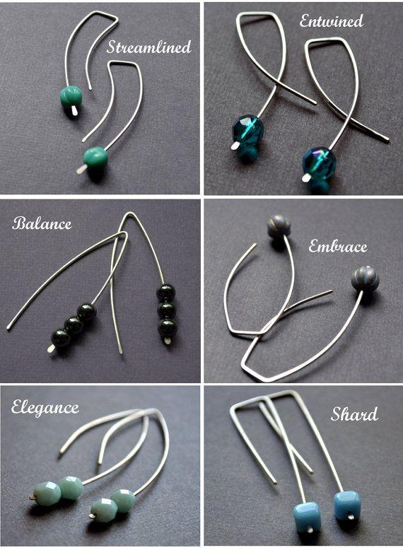 Earrings. Modern Contemporary Simple Sleek Elegant por Epheriell