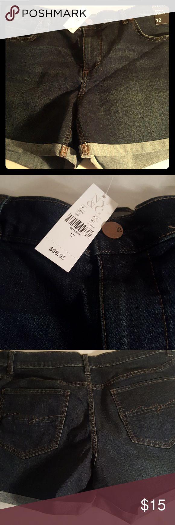 """New York and Company blue jean shorts Dark blue jean shorts. Soho New York and Company bowery 4"""" shorts. New York & Company Shorts Jean Shorts"""
