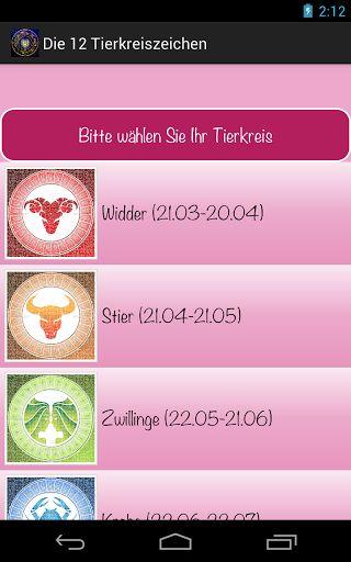 """Tägliche Horoskope mit dieser Anwendung werden Sie Zugriff auf:<br>- Die 12 Tierkreiszeichen<br>- Wer passt zu mir?<br>- Mann verführen<br>- Frau verführen<br>- Tageshoroskop kostenlos<br>- Wochenhoroskop kostenlos<br>- Monatshoroskop kostenlos<p>Kontakt: <a href=""""mailto:sgsoftinc@gmail.com"""">sgsoftinc@gmail.com</a><p>Finden Sie Ihr Sternzeichen:<br>Widder (21.03-20.04)<br>Stier (21.04-21.05)<br>Zwillinge (22.05-21.06)<br>Krebs (22.06-22.07)<br>Löwe (23.07-23.08)<br>Jungfrau…"""