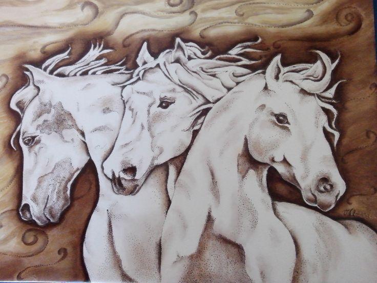 Viviana Odeard pintora sobre porcelana Cuadro Pintado a mano sobre placa ceramica (diseño propio)