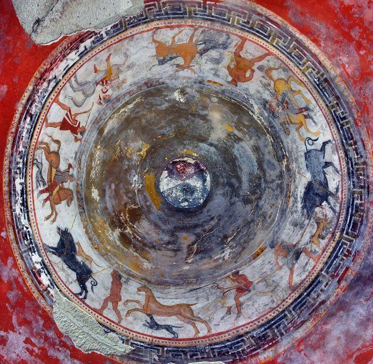 Ловна сцена в гробната камера, Александровска гробница