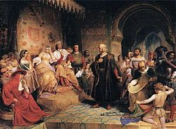 Christopher Columbus before Queen Isabella of Castille