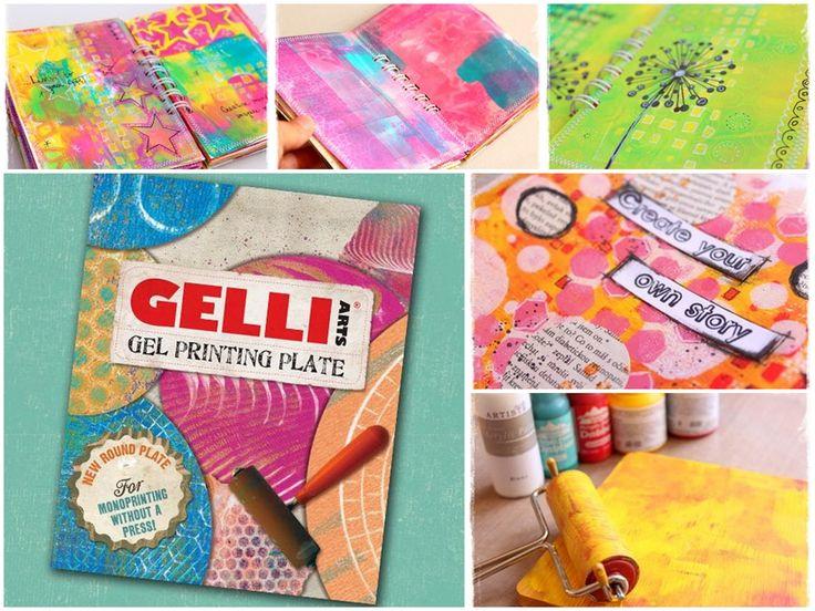 Silikonová podložka Gelli Plate a tisíce backgroundů