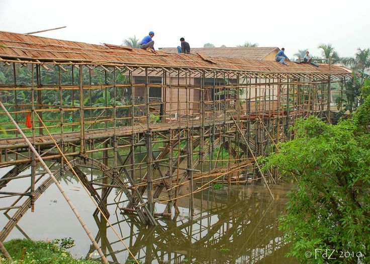 Dapitan, 2008     This bamboo bridge was being built to take diners across the river to a new seafood restaurant on the outskirts of Dapi...