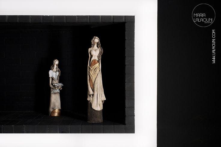 Handmade ceramic sculptures made by Maria Lalaouni * www.lalaouni.com
