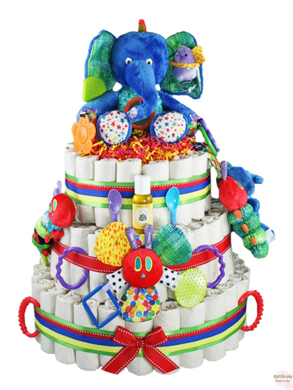 Eco-friendly Eric Carle Diaper Cake 3 Tier