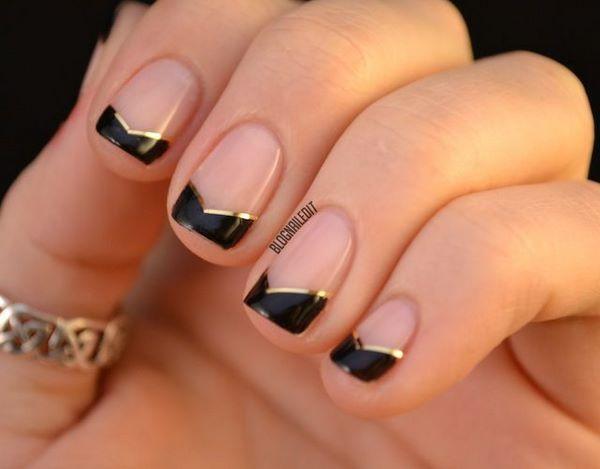 decorando uñas naturales con cintilla