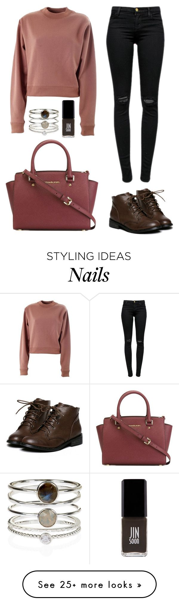 """Like it"" by honeyat on Polyvore featuring J Brand, Jin Soon, Acne Studios, Accessorize and MICHAEL Michael Kors"