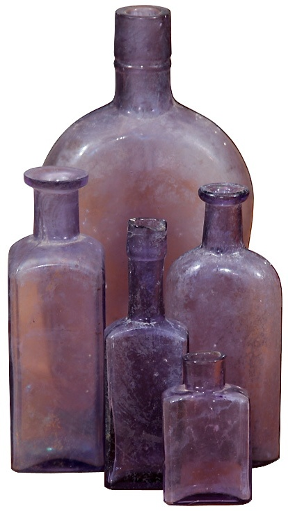 Lavender glass bottles                                                                                                                                                     More