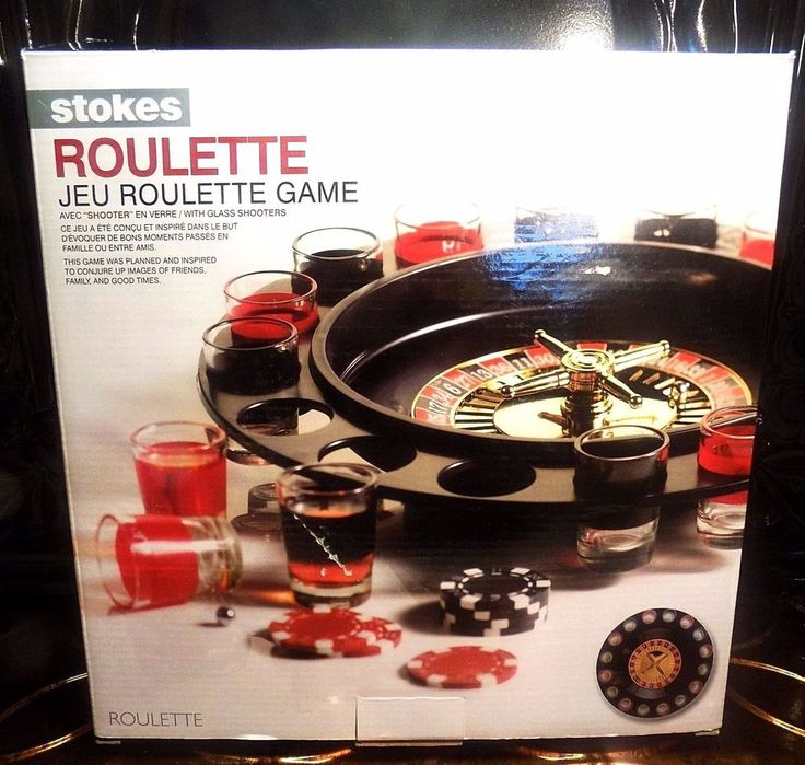 """Stokes Roulette Drink Game with Shot Glasses 11 1/2"""" Diameter New"""