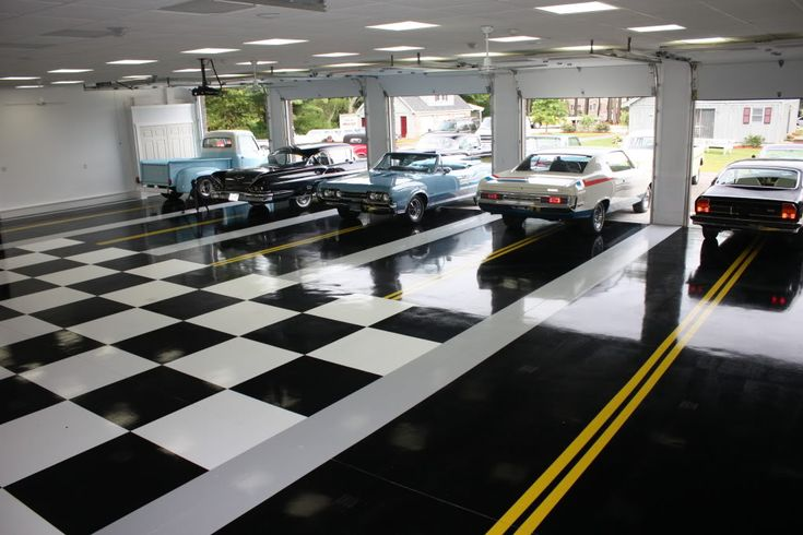 collector car garage ideas - Classic Car Collector Garage Floor luxury homes house