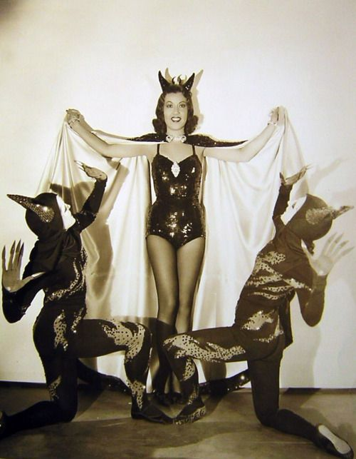 This is such a fab devil babe photo that it pains me to know that it is Ethel Merman. (1938)