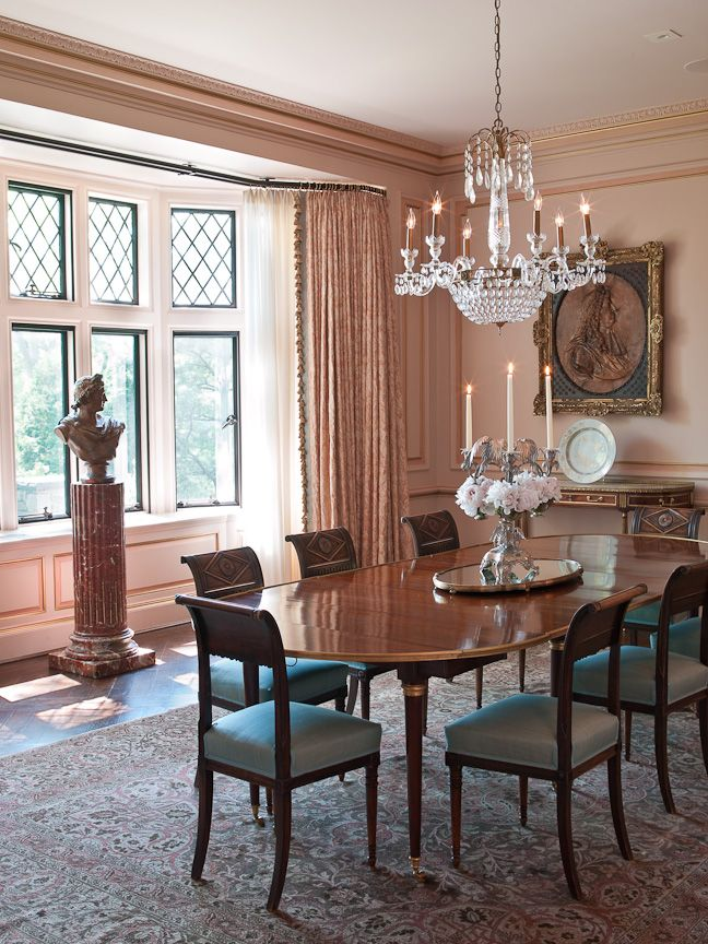 1000 images about decorating with pink on pinterest for Formal dining room paint